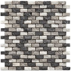 @Overstock - Add the look and feel of natural stone to your floor or walls with these tiles from SomerTile. This mesh backed mosaic comes in various shades of white and grey.http://www.overstock.com/Home-Garden/SomerTile-12x11.5-inch-Griselda-Subway-0.625x1.5-inch-Charcoal-Natural-Stone-Mosaic-Tiles-Pack-of-10/5718207/product.html?CID=214117 $94.99