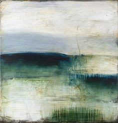 Shawn Dulaney . Green Dawn Clarity . 44 x 42 acrylic on linen  #art #painting #abstract #landscape #shawn_dulaney
