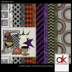 Halloween: Part 1 mini kit freebie from Allison Kimball Design