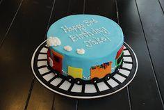 Choo choo {Colorful Train Cake} | A Little Something Sweet - Custom Cakes