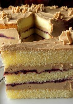 "Takie tam moje pomysły: Ciasto ""siedem szklanek"" – Famous Last Words Polish Desserts, Polish Recipes, No Bake Desserts, Delicious Cake Recipes, Yummy Cakes, Yummy Food, Baking Recipes, Snack Recipes, French Desserts"