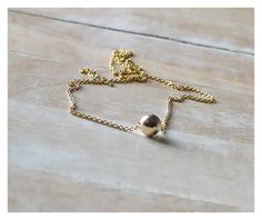 14KGold Filled necklace, Minimal, Gold, Modern, everyday jewelry - Beaucoup de Beads by BeaucoupdeBeads on Etsy