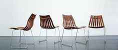Hans Brattrud, Scandia Junior 4 rosewood chairs, Hove Möbler (Norway),