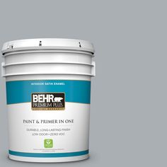 BEHR Premium Plus 5-gal. #N500-3 Tin Foil Satin Enamel Interior Paint