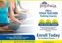 Namo Gange Namaskar!  Career in yoga is booming. This is a profession which can give you a high growth in future. The yogshala is the best platform to get certified as a yoga teacher. The Yogshala offers Yoga Teacher Training courses with international standards.  Call @ Toll Free- 1800 3000 0639  to become a professional yoga teacher. www.theyogshala.com   #TheYogshala #YogaTeacherTrainingCourse #IndianAncientMedicinalSystem #BecomeYogaTeacher Best Physique, Yoga Teacher Training Course, Rishikesh, Yoga Art, Living A Healthy Life, Training Center, Training Courses, Live Long, Yoga Meditation