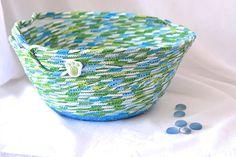 Boy Easter Basket Handmade Blue Easter Basket Keepsake