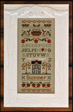 Summer Band Sampler Cross stitch pattern from Little House Needleworks! Perfect for summer stitching!