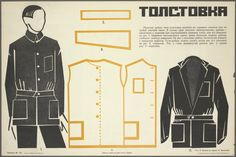 "Soviet Handbook, Men's shirt style of ""Tolstovka"" - by V. Mukhin... 1925?"