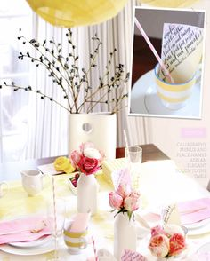 Tablescape 101: Spring Brunch (Yellow