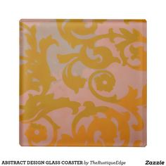 ABSTRACT DESIGN GLASS COASTER