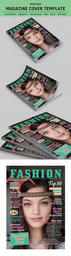 Photographer Magazine Cover Template Vol.2   Magazine cover template ...