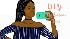 Je transforme une chemise | DIY OFF THE SHOULDERS SHIRT Diy Tops, Shoulder Shirts, Refashion, Off The Shoulder, Couture, Disney Princess, Hui, Upcycle, Fashion Styles