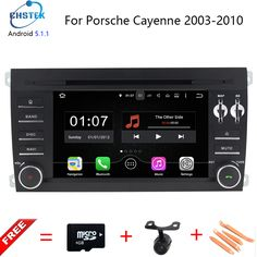 1024X600 Android 5.1.1 Quad Core Car DVD Player for Porsche Cayenne 2003-2010 3G Wifi Stereo System BT A9 1.6GHz CPU 16GB Flash