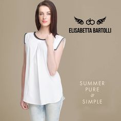 Summer pure & Simple - #Cross #Pleate #Top with #Sleeveless