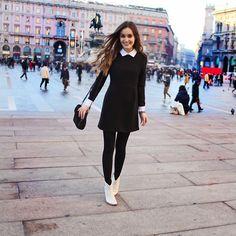 Milano. (by Anouska Proetta Brandon) http://lookbook.nu/look/4372656-Choies-Dress-Carvela-Boots-Milano