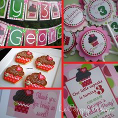 Cupcake Birthday Party Decorations Package  by PartyOnPurposeShop, $157.40