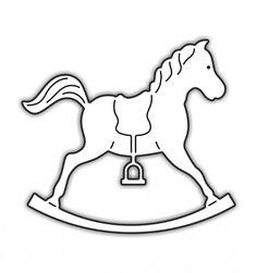 Szablon konik na biegunach Rocking horse template Szablony