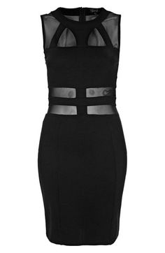 Topshop Mesh & Bandage Body-Con Dress   Nordstrom $98 yeah i doubt i could wear this...