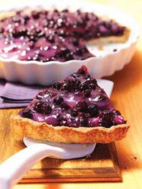 Creamy Wild Blueberry Pie ?.wildblueberries have 10x the antioxidants of regular blueberries