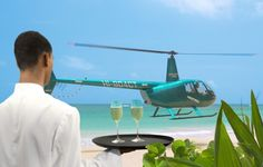 Sivory Punta Cana - helicopter in from the airport, land on the beach, drinks awaiting!