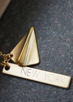 Personalized traveler necklace from EarringsNation Gold Wedding inspiration