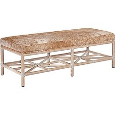 McGuire Furniture: Barbara Barry Cat's Cradle Bench: AO-68