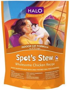 Halo Spot's Stew Indoor Formula Chicken Recipe Cat Food -- Learn more by visiting the image link. (This is an affiliate link and I receive a commission for the sales)