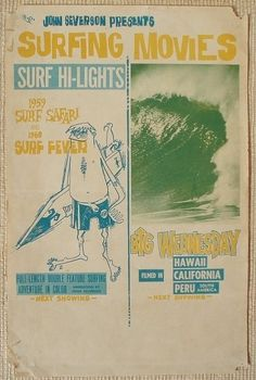 1959 Surfing Movie Poster by John Severson #luvocracy #graphicdesign #poster #typography #vintagesurf #surf