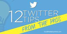 12 twitter tips from pros: http://www.socialmediaexaminer.com/12-twitter-marketing-tips/