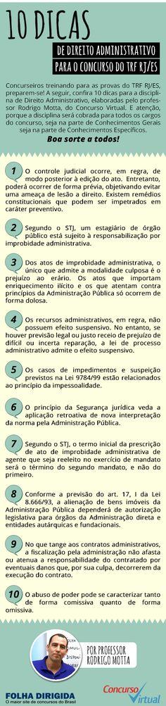 10 dicas de Direito Administrativo para o concurso TRF RJ/ES 2016 - Folha Dirigida