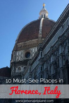 10 must-see attractions in Florence, Italy. All the best things to do in Firenze, from the David Statute to the Duomo. Don't visit Italy's most famous city without crossing these sites off your list! Italy Travel Tips, Rome Travel, Travel Europe, Italy Destinations, Visit Italy, Italy Vacation, Florence Italy, European Travel, Travel Around The World