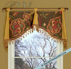 It's spring and it's time for spring clean up. I have so many things to do but there is only one thing in my mind. Curtains And Draperies, Burlap Curtains, Spring Clean Up, Drapery Designs, Arched Windows, Bay Windows, Pelmets, Custom Window Treatments, Passementerie