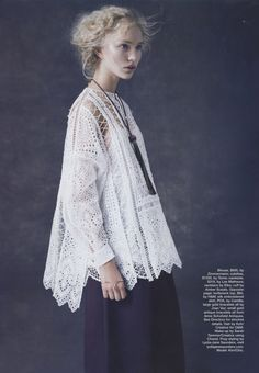 Editorial: Zimmermann Riot Eyelet Shirt, Marie Claire Australia November 2014.