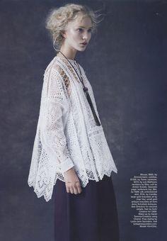 Editorial: Zimmermann Riot Eyelet Shirt, Marie Claire Australia November 2014.