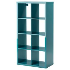 KALLAX Shelving unit - high gloss turquoise - IKEA