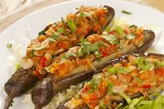 Imam Bayildi : A food which worth a try in Turkey or various Turkish restaurants is called Imam Bayildi. It is a tasty meal as a stuffed eggplant. Turkish Food Traditional, Turkish Recipes, Ethnic Recipes, Turkish Restaurant, Eggplant Dishes, Salmon Seasoning, Mouth Watering Food, Spinach And Feta, Grilled Meat