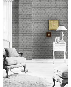 This fantastic Dark Grey Brick Effect Wallpaper will make a great feature in any room! The high quality print features shading to create the illusion of depth and is textured to complete the natural effect.