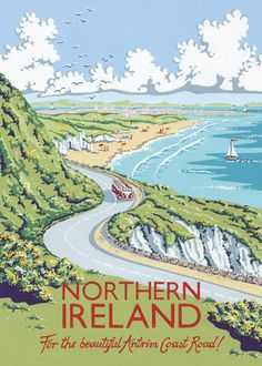 Northern Ireland by Kelly Hall - art print from King & McGaw
