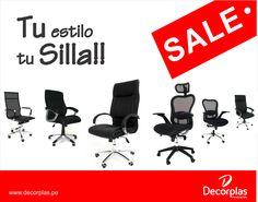 Confort y Elegancia a su Oficina son las SILLAS que tenemos para ti, Contamos con la mayor variedad en Sillas Gerenciales, Operativas y Multiusos/ info@decorplas.com.pe