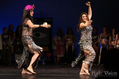 Suhaila and Isabella (mother and daughter) performing a classic Bal Anat dance with zills at A Tribute to Jamila Salimpour.