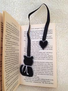 Bookmark / Marcador de Página gatito                                                                                                                                                     Más