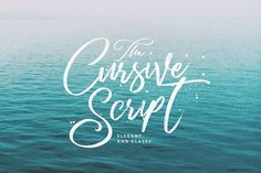 Cursive Script Handmade Brush by Dirtyline Studio on @creativemarket