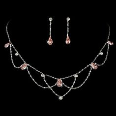 Diamond neclace and earring sets in pink | Silver-Pink-Necklace-and-Earring-Bridal-Jewelry-Set-36428-pic-01.jpgLOVE THIS VERY PRETTY...