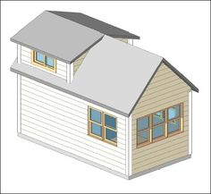 A green-built tiny house 8 x 15 with loft bedroom.