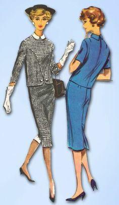 1950s Stunning Two Piece Dress Pattern 1958 McCall's Sewing Pattern Sz 36 B   eBay