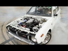 1970s #Toyota #Corolla Sleeper with Nissan V6 Turbo Runs 1/4 Mile in 11s - [While still a work in progress, the Corolla covered the quarter mile in 11.83 seconds at an exit speed of 119.78mph (192.6 km/h). The owner of the car says with a few tweaks here and there, he may be able to reduce the time to around 10 seconds at 130+mph (210 km/h).]