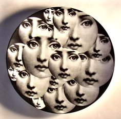 Theme and Variations plate no.165 by Piero Fornasetti