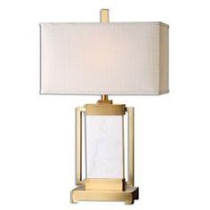 Uttermost Marnett White Marble Table Lamp 26940-1