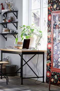 Home Office Furniture, Storage & Accessories - IKEA Mesa Home Office, Home Office Desks, Home Office Furniture, Furniture Storage, Office Chairs, Industrial Style Desk, Cheap Furniture Online, Living Spaces, Living Room
