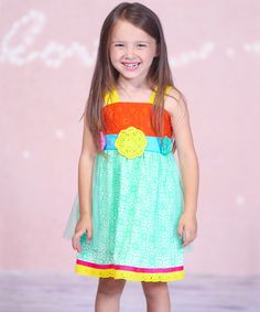 Turquoise Garden Dress - Infant, Toddler & Girls by Jelly the Pug is perfect! $9.99